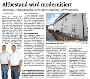 Westfalenpost vom 08.08.2015