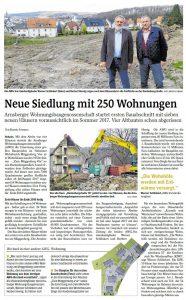 Westfalenpost vom 08.04.2017